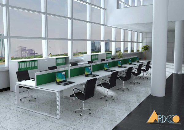 Mẫu thiết kế nội thất văn phòng làm việc đơn giản, tiết kiệm chi phí-4
