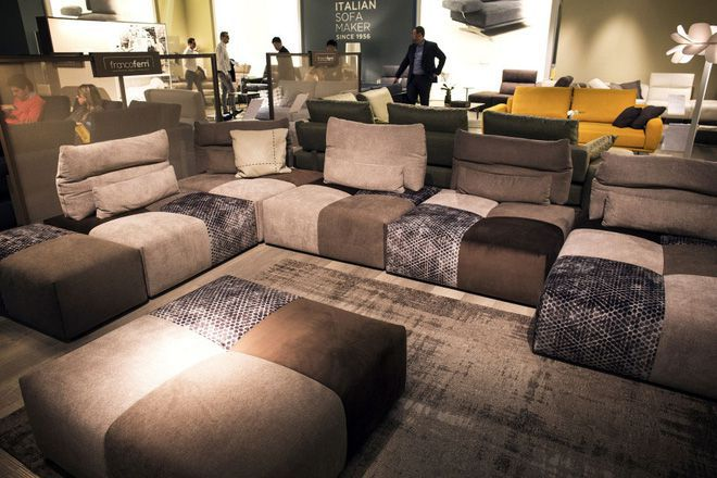 Sofa nỉ độc đáo tạo không gian ấn tượng