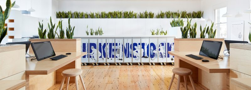 Thiết kế thi công phòng làm việc công ty giày dép Birkernstock