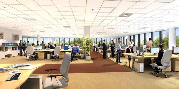 Thiết kế nội thất văn phòng mở