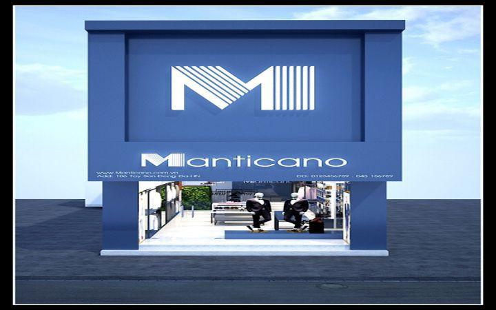 Thiết kế thi công shop thời trang nam Manticano